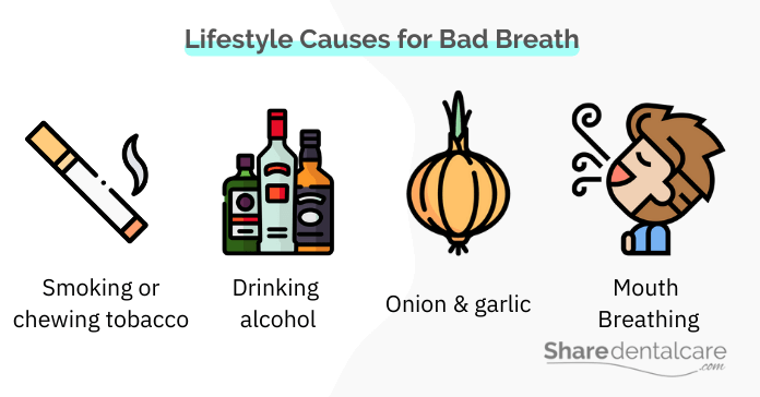 Bad breath may occur due to lifestyle causes, despite good oral hygiene