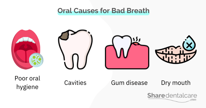 Oral causes for bad breath